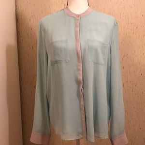 NWT Armani Exchange sheer blouse
